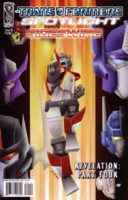 Transformers Spotlight Sideswipe Cover B (2008) IDW Publishing comic book